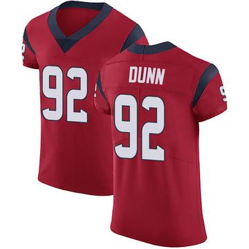 Men's Brandon Dunn Houston Texans Nike Elite Alternate Vapor Untouchable Jersey - Red