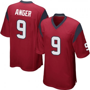 Men's Bryan Anger Houston Texans Nike Game Alternate Jersey - Red