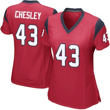 Women's Anthony Chesley Houston Texans Nike Game Alternate Jersey - Red