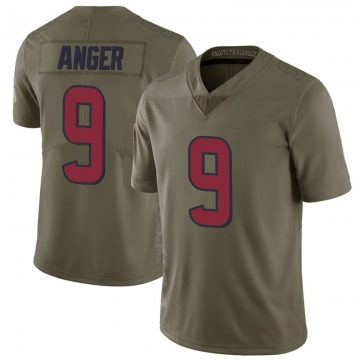 Youth Bryan Anger Houston Texans Nike Limited 2017 Salute to Service Jersey - Green